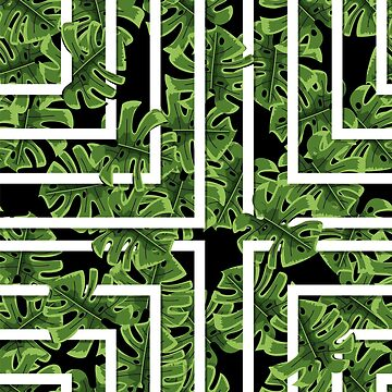 green tropical jungle pattern  by zao4nik