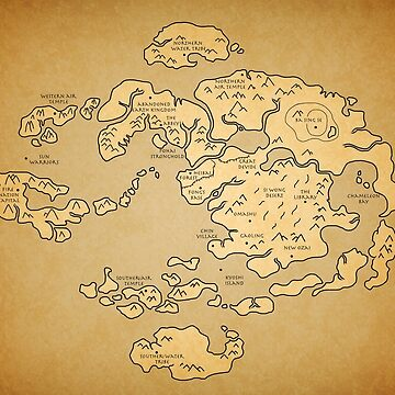 Avatar: Last Airbender world Map by KewlZidane