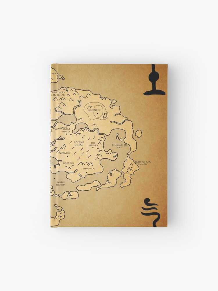 Avatar: Last Airbender world Map | Hardcover Journal
