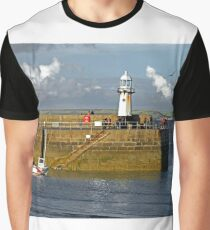 Smeaton's Pier and Lighthouse, St Ives Graphic T-Shirt