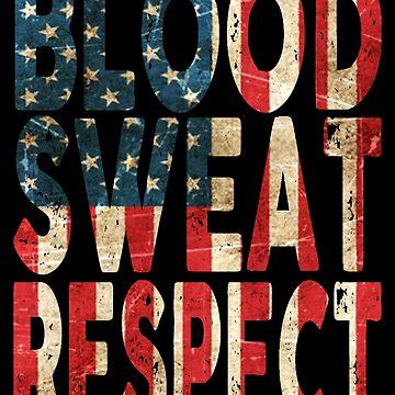 Blood, Sweat, Respect USA by Vitalitee