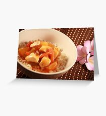 Sweet and sour chicken Greeting Card
