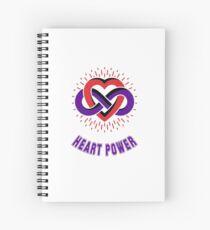 Infinity Heart Power Spiral Notebook