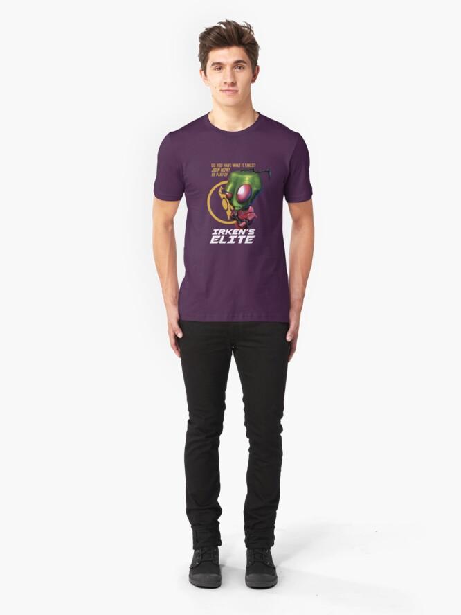 Alternate view of Invader Zim - Irken's Elite Slim Fit T-Shirt