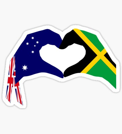 We Heart Australia & Jamaica Patriot Flag Series Sticker