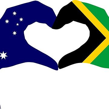 We Heart Australia & Jamaica Patriot Flag Series by carbonfibreme