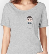 Chibi Connor in a pocket Women's Relaxed Fit T-Shirt