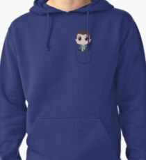 Chibi Connor in a pocket Pullover Hoodie