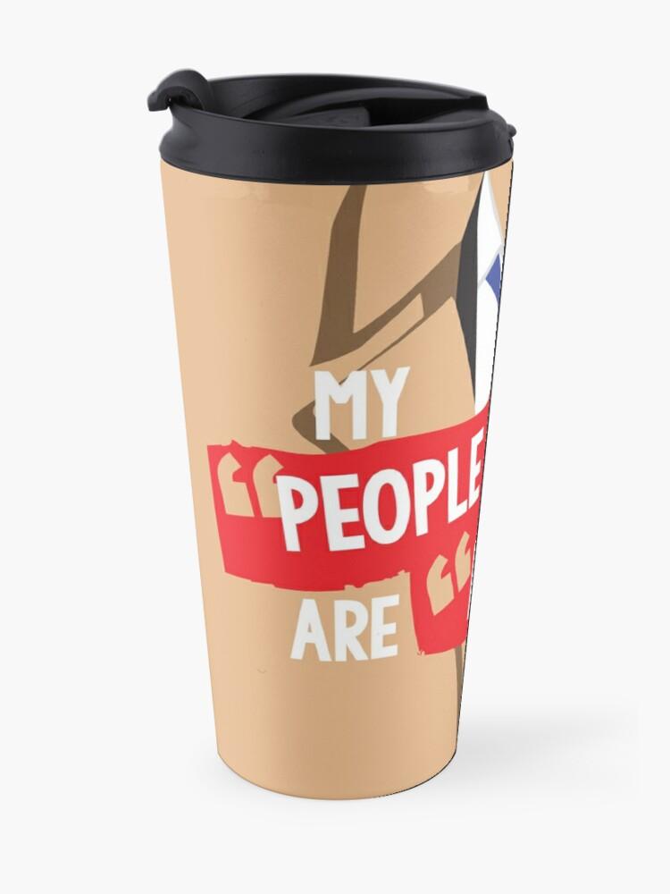 "Alternate view of My ""people skills"" are ""rusty"" Travel Mug"