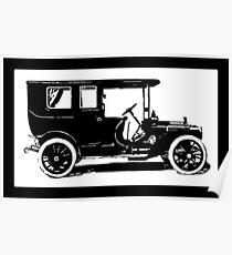 1909 Packard Limousine Pop Tee Poster