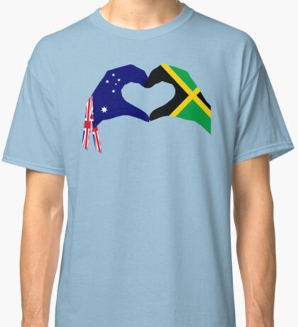 We Heart Australia & Jamaica Patriot Flag Series Classic T-Shirt