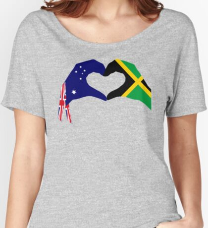 We Heart Australia & Jamaica Patriot Flag Series Relaxed Fit T-Shirt