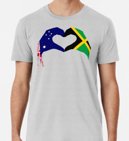 We Heart Australia & Jamaica Patriot Flag Series Premium T-Shirt