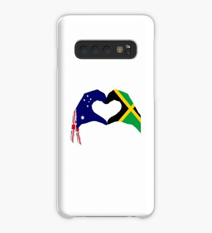 We Heart Australia & Jamaica Patriot Flag Series Case/Skin for Samsung Galaxy