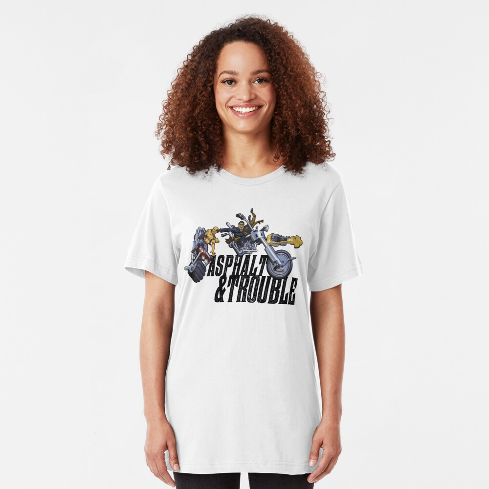 Asphalt & Trouble - Light Slim Fit T-Shirt
