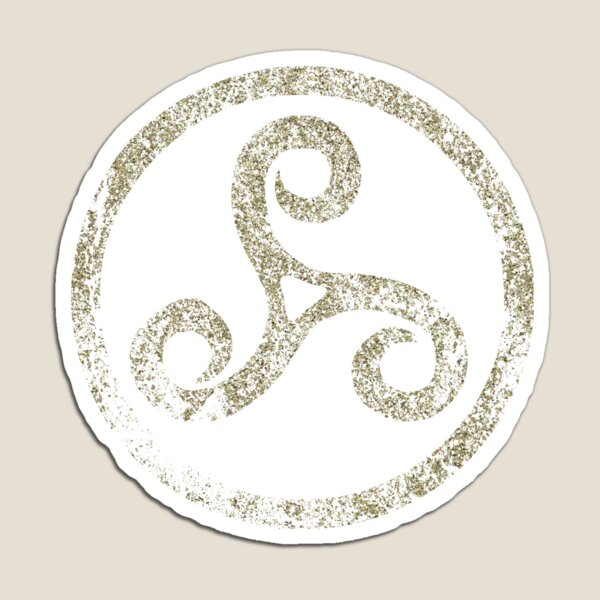 Celtic Knot Triskele Traditional Manx Irish 3 Legs Spiral Symbol Magnet
