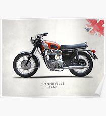 Bonneville T120 1969 Poster