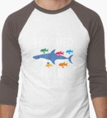 65353cdcc Teacher Shark Funny Teaching Baby Shark Men's Baseball ¾ T-Shirt