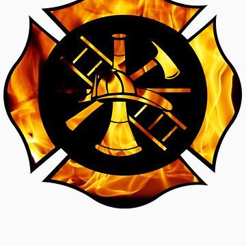 Flaming Maltese Cross by kek19