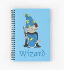 Harry the Wizard - embroidery as print Spiral Notebook