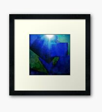 Shapes in Abstract Under The Sea Framed Print