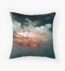 Infrared Lighthouse Throw Pillow