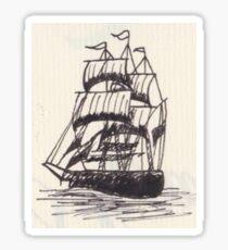 Inked Ship Sticker