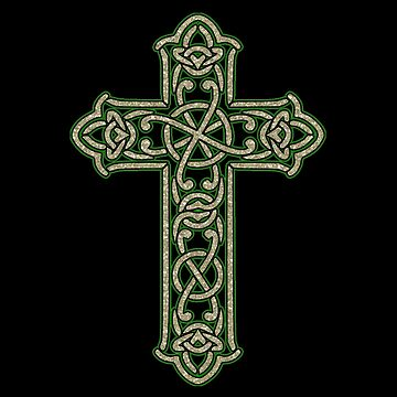 Celtic Cross Traditional Celtic Knot Illuminated by thespottydogg