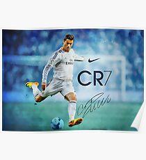 Cristiano Ronaldo , Poster , CR7 , Juventus  Poster