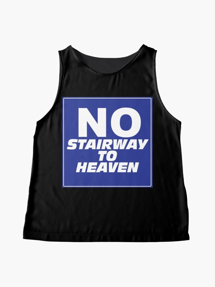 Alternate view of Wayne's World No Stairway to Heaven Sign Sleeveless Top