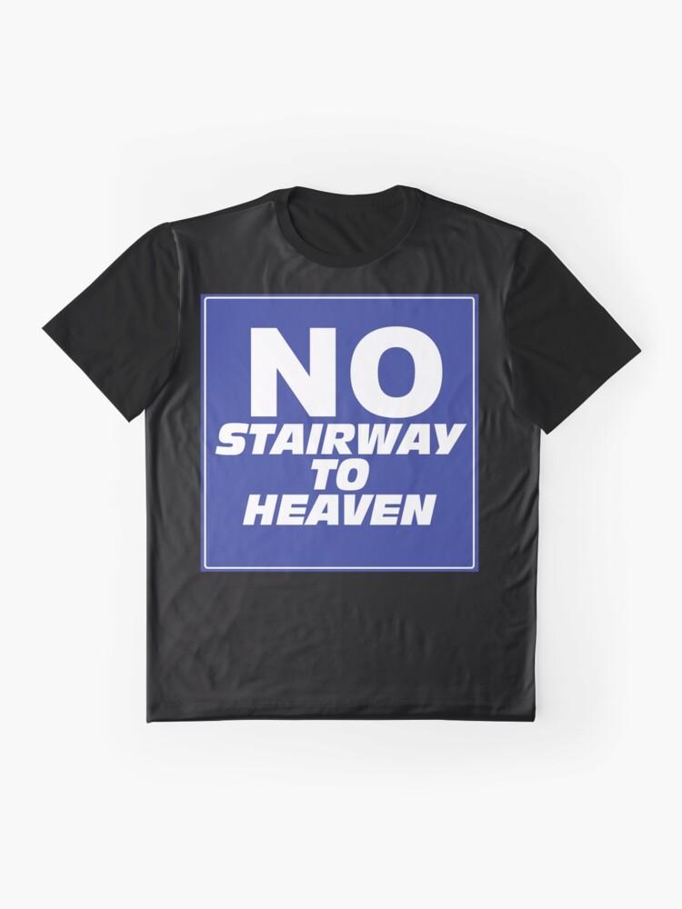 Alternate view of Wayne's World No Stairway to Heaven Sign Graphic T-Shirt