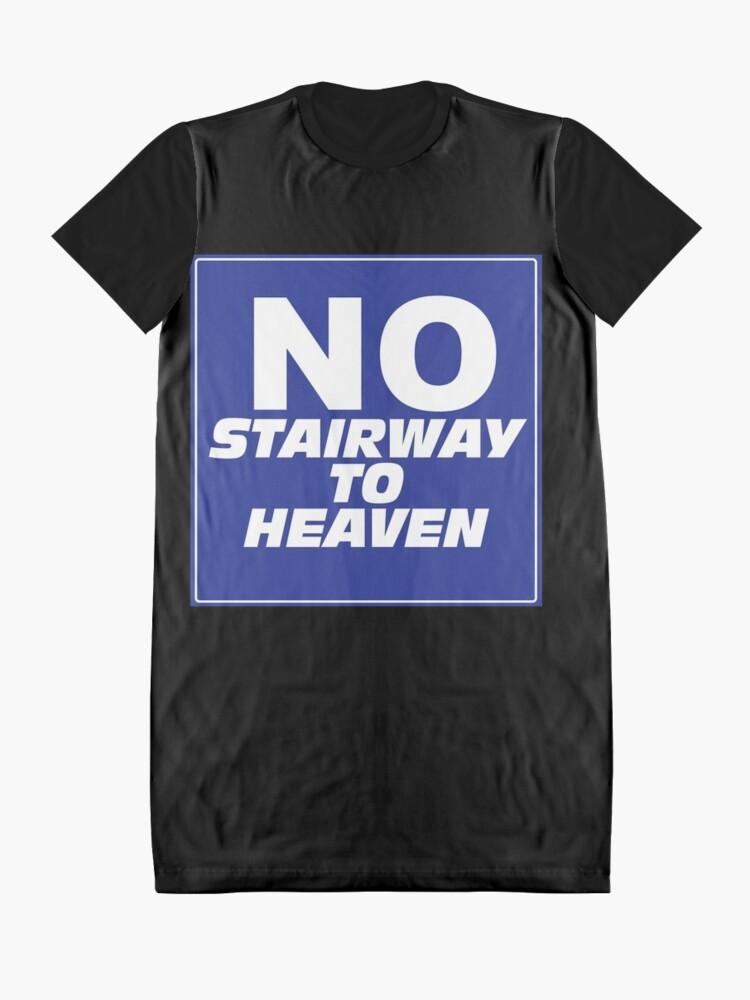 Alternate view of Wayne's World No Stairway to Heaven Sign Graphic T-Shirt Dress