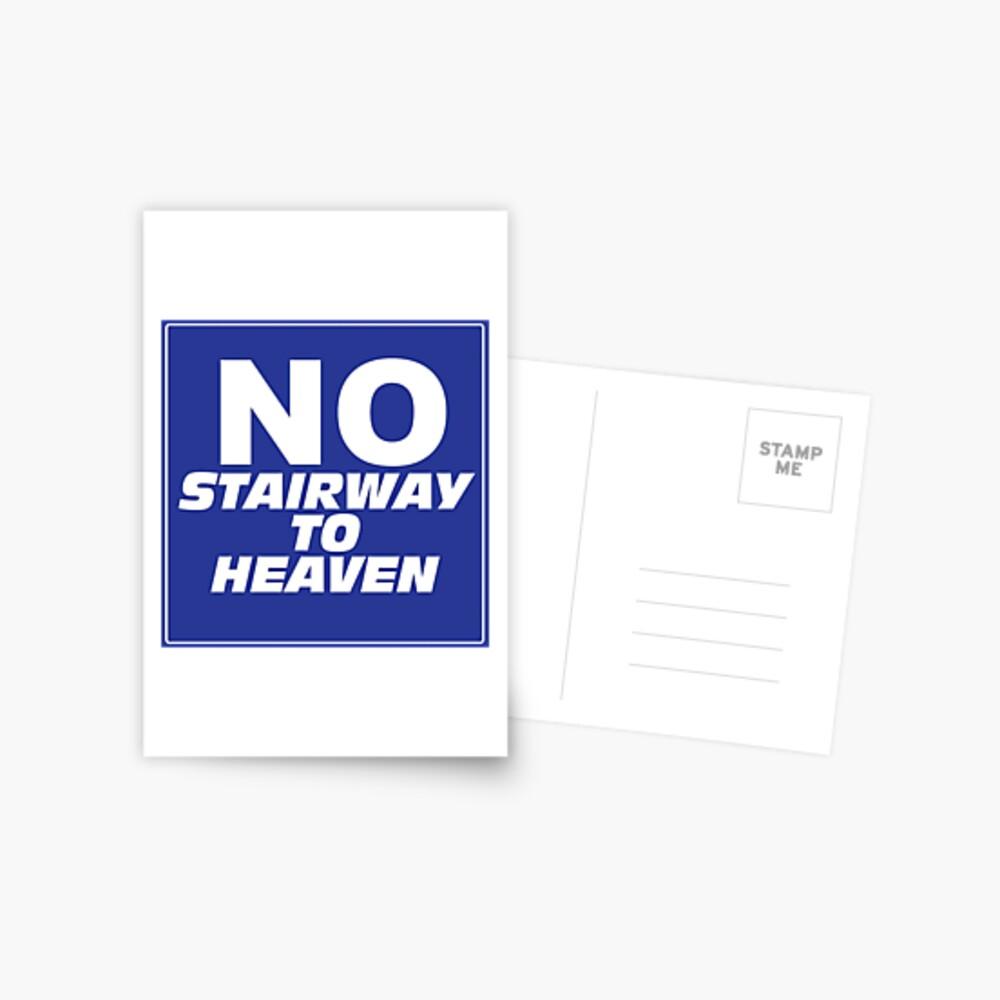 Wayne's World No Stairway to Heaven Sign Postcard