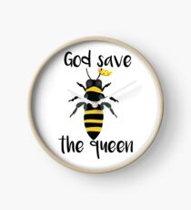 God Save the Queen Bees Clock