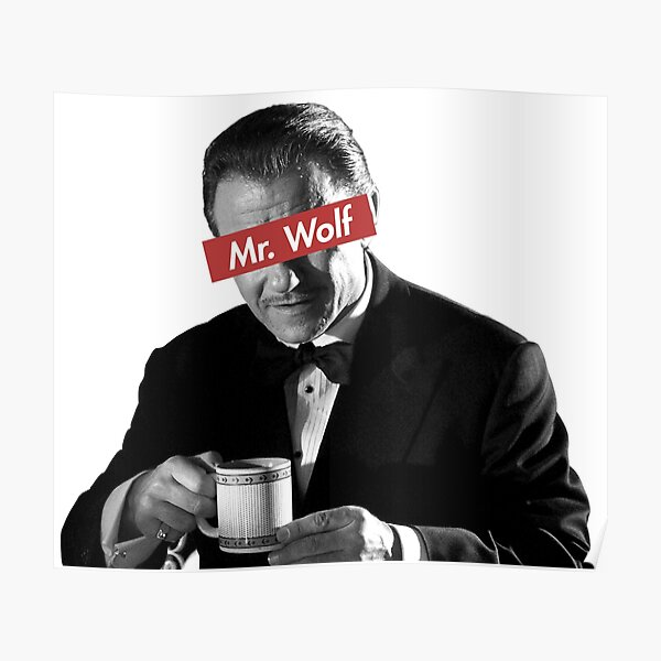 Mr. Wolf Pulp Fiction Poster