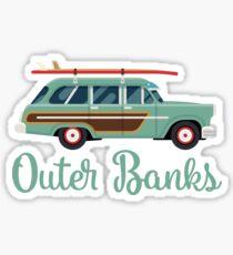Outer Banks OBX North Carolina Retro Surfwagen Sticker