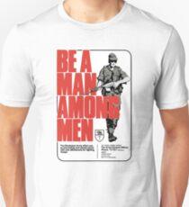 Be a Man Among Men Rhodesian Army Recruitment Poster Unisex T-Shirt