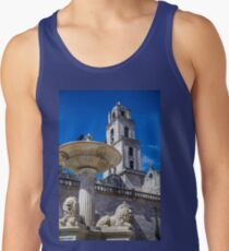 Cuba. Havana. Plaza de San Francisco. Fountain and Bell Tower. Tank Top