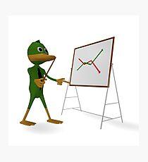 Duck and economic graph Photographic Print