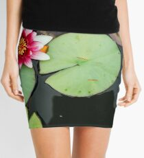 Pink Lily In Pond Overhead View Mini Skirt