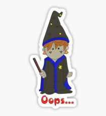 Ron Weasley the Wizard - embroidery as print. Sticker