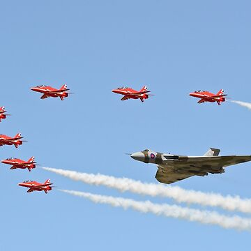 Vulcan and Red Arrows by aviationart