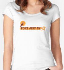 Camiseta entallada de cuello redondo Port Jefferson - Long Island.