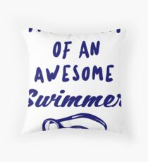 PROUD MOM OF AN AWESOME SWIMMER - POPULAR SWIMMING DESIGN Floor Pillow