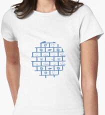 Wall Blocks with Wonderful Shaps Tshirt Gift T-Shirt Women's Fitted T-Shirt