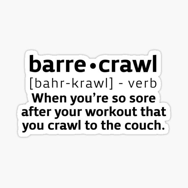 Barre Crawl Sticker