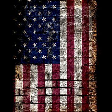 Grunge USA Flag, America, Punk Style Distressed Wall by gorillamerch