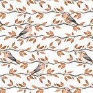 Birds on branches by Gribanessa