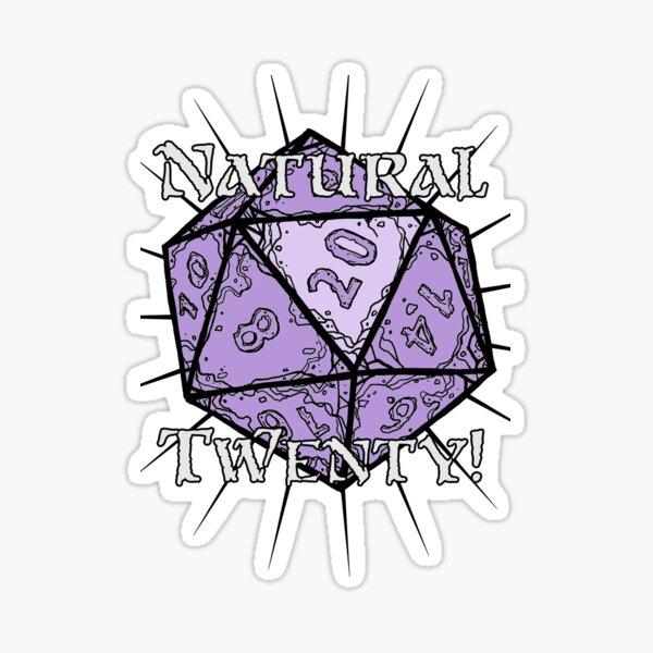 Natural 20! Purple Edition Sticker