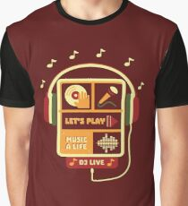 Lets Play Music Graphic T-Shirt